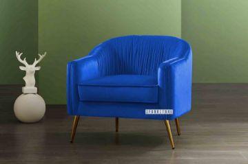 Picture of HANNER Velvet Lounge Chair *Navy Blue