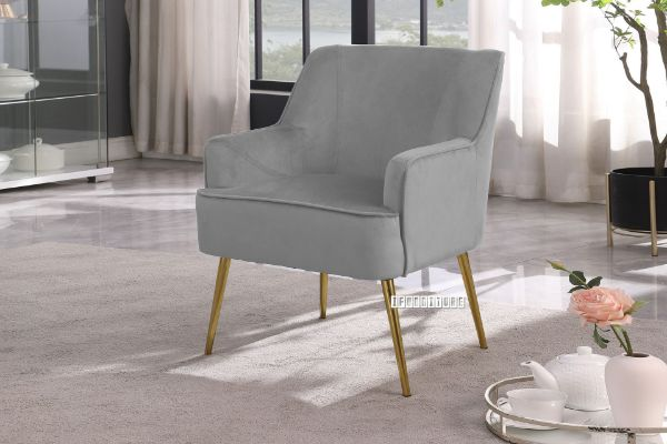 Picture of MILLER Velvet Lounge Chair *Grey