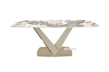 Picture of LANCER 180 Ceramic Marble Dining Table