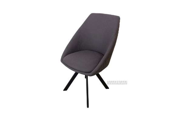 Picture of BRUNO Technical Fabric Swivel Dining Chair *Dark Grey