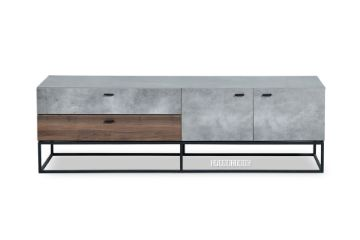 Picture of LUTE 160 2 Door 2 Drawer TV Unit *Cement and Walnut