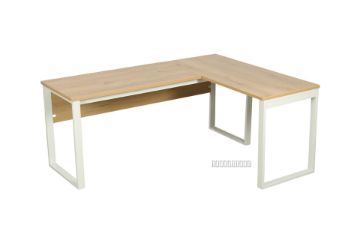 Picture of SOHO L Shape Writing Desk *Natural Oak and White