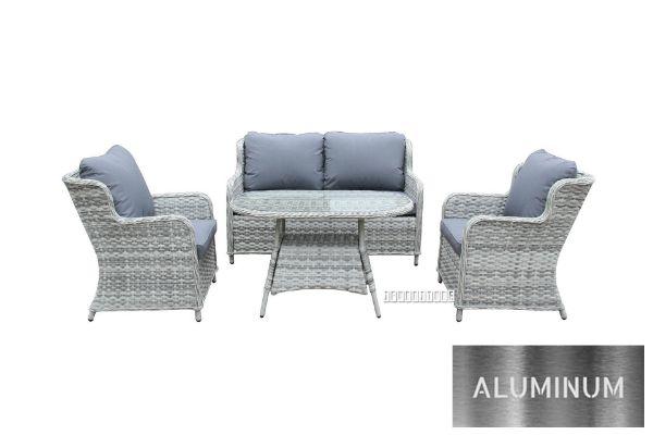 Picture of BARCELONA Aluminum Frame 4PCS Wicker Sofa Set