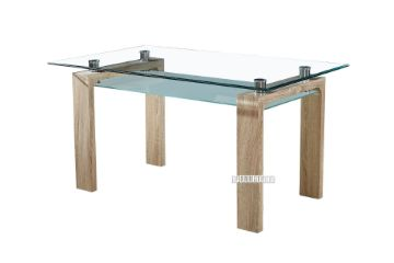 Picture of HORIZON 150 Glass Dining Table *Oak