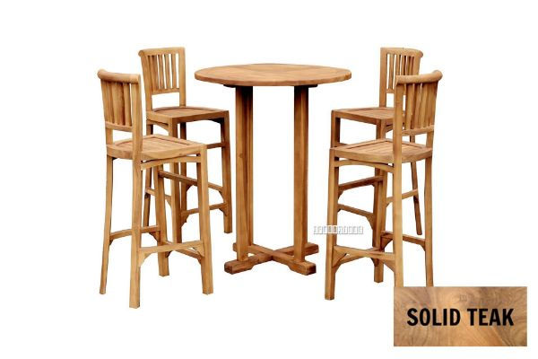 Picture of BALI 5PC 80 Solid Teak Round Bar Set