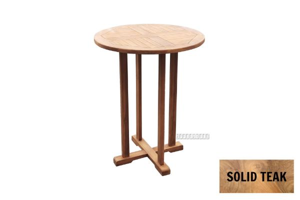 Picture of BALI 80 Solid Teak Round Bar Table