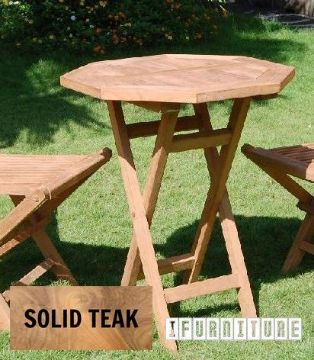 Picture of BALI Solid Teak Foldable  D60 Octangle Table Model 206A