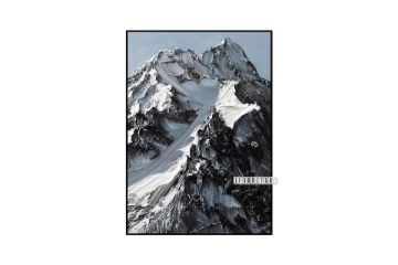 Picture of Snow Capped Mountain 60X120 CANVAS FRAMED PRINT