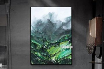 Picture of Misty Mountain View 60X120 CANVAS FRAMED PRINT