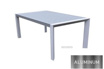 Picture of CARDIFF 160 Aluminum Dining Table *White and Grey