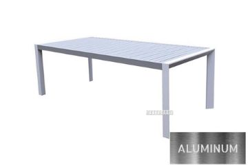 Picture of CARDIFF 220*100 Aluminum Dining Table *White and Grey