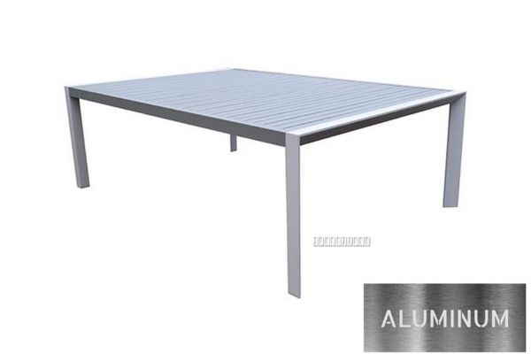 Picture of CARDIFF 220*150 Aluminum Dining table *White and Grey
